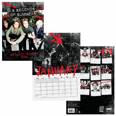 Calendrier 5 Seconds of Summer Officiel 2016
