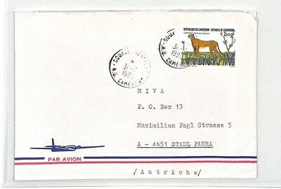 CA273 1990 Cameroon CHEETAH Airmail Cover MISSIONARY VEHICLES PTS