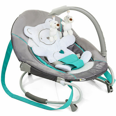 New Hauck Hearts Leisure Baby Bouncer Rocker Chair & Toy Bar From Birth