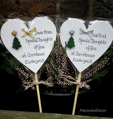 Special Thoughts Christmas Memorial grave ornament- personalised, waterproof