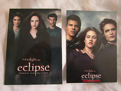 Twilight Eclipse Series 1+2 Neca Trading Cards all 219 cards Robert Pattinson