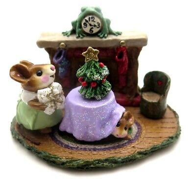WEE FOREST FOLK 2000 Christmas Eve Lavender Table Cloth M-191 Mint In Box