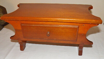 UNIQUE COUNTRY STOOL WITH DRAWER 19th CENTURY