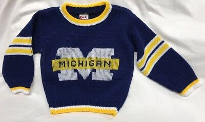 NWOT Michigan Wolverines Sweater NCAA Park Bench Kids Size 2T