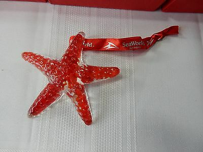 SEAWORLD STARFISH Art Glass Christmas Tree Ornament - New Old Stock!