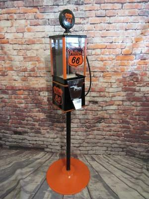 PHILLIPS 66  gas  Oak vintage gumball machine metal stand novelty memorabilia