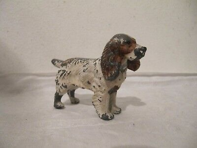 Cold Painted Spelter Spaniel Dog Figure Ornament
