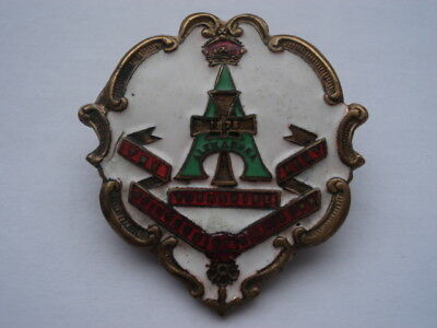 Cww1 Yorkshire Regiment Princess Of Wales's Own Enamel Sweethearts Pin Brooch