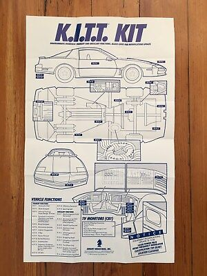 1983 Knight Rider K.I.T.T. Mail Away Promotional Blueprints
