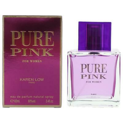 Pure Pink Perfume by Karen Low, 3.4 oz EDP Spray for Women NEW
