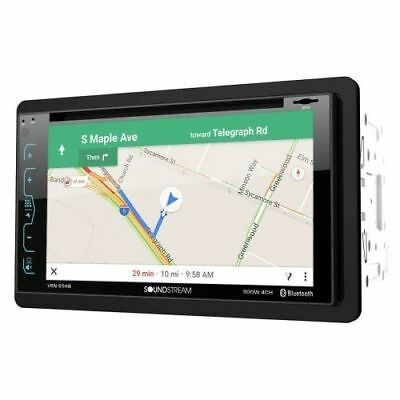 """Soundstream VRN-65HB Double DIN GPS DVD Bluetooth Car Stereo with 6.2"""" Screen"""