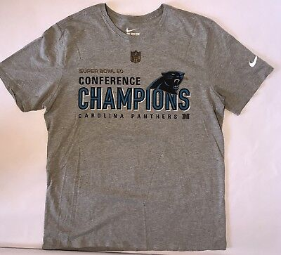 Nike Nfl Super Bowl 50 Confernece Champs Carolina Panthers T Shirt Mens Xl  Nfc e4696de47