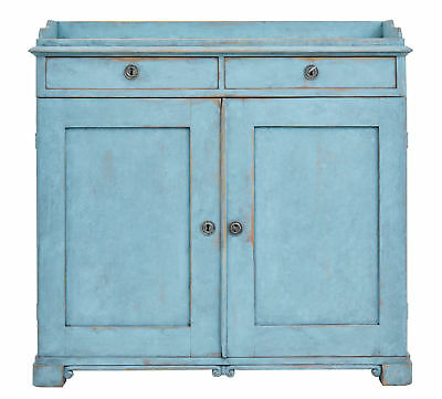 19Th Century Painted Swedish Cupboard