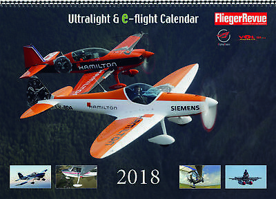 Ultralight & E-Flight Calendario 2018 - ultraleicht- Y Vuelo Eléctrico de pared