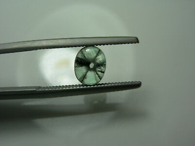 very rare TRAPICHE EMERALD gemmy cab Green Natural Colombia Colombian 0.79ct gem
