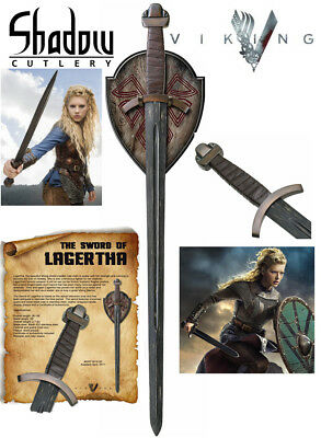 Vikings - SWORD OF LAGERTHA w/ Wall Plaque (Officially Licensed) SH8001