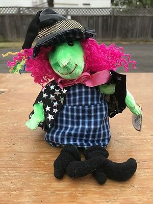 Ty Beanie Babies Halloween Plush SCARY Witch 2000  NWT