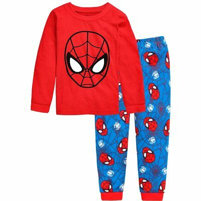 Cartoon Kids Toddler Baby Boys Pajamas Pjs Sleepwear Sets Clothes Size 2T-7T