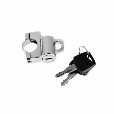 Universal 22mm Motorcycle Helmet Lock Anti-theft Security w/ 2 Keys Chrome