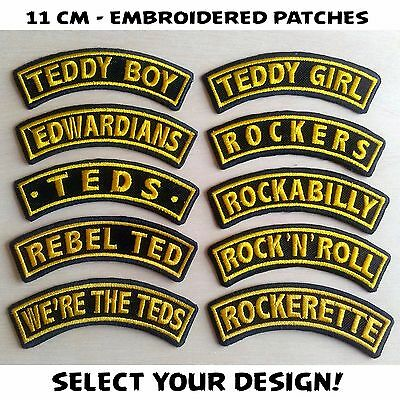 Patch Iron TEDS ROCKERS ROCKABILLY CAVAN TEDDY BOY ELVIS CRAZY CSA STRAY CATS