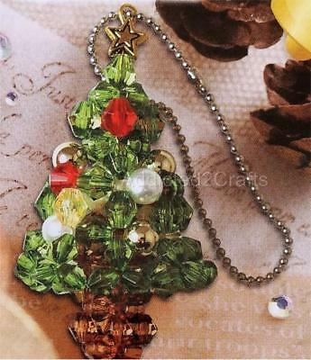 DIY Christmas Tree Beading Kit Ornament Craft Crystal Beads Pearls Needle Chain