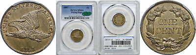 1857 Flying Eagle Cent PCGS MS-64 CAC