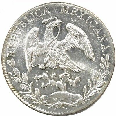 Guanajuato, Mexico, Mexico Cap and Rays 8 reales, 1891 RS. KM-377.8 Unc