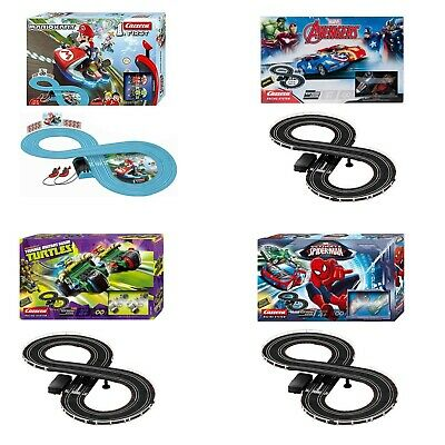Schlitz Rennsport festgelegten Carrera Disney Cars Spiderman Super Mario