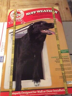 """New Ideal Pet Products Extra Large Ruff-Weather """"All Climate"""" Dual Flap Pet Door"""