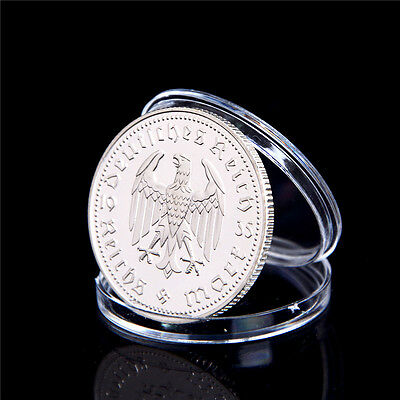1Pcs Silver-Plated Coins Hindenburg President Commemorative Coin Gift 0HK