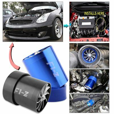 Laders Dual Doppel Turbonator Cold Air Intake Fuel Saver Turbolader Fan @*