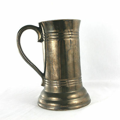 Vintage Studio Pottery Very Large Tankard Crackle Finish Prinknash