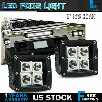 12 Volt Tractor Equipment Square Led Work Light Snow Plow Worklight Drving
