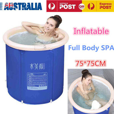 Folding Bathtub Portable PVC Foldable Water Tub Place Room Spa Massage Bath