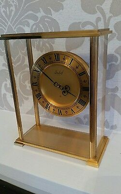 Vintage Swiss Imhof 8 day floating skeleton clock