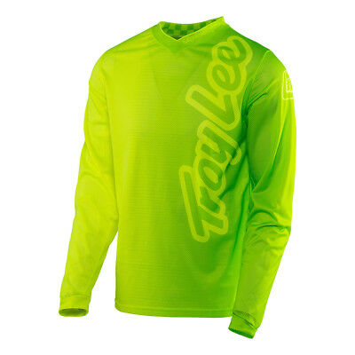 Troy Lee Designs GP Air 50/50 Mens MX/Offroad Jersey Flo Yellow/Green