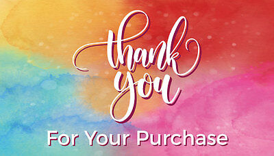 1000 PERSONALIZED ebay Seller THANK YOU Cards - 5 Star Feedback *Free Shipping*
