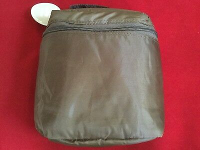 Trend Lab INSULATED BOTTLE BAG Day Lunch Baby Toddler BROWN Day Bag Zipper NEW