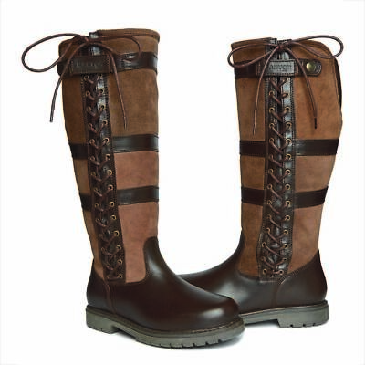 Kanyon Yew 2 brown leather & suede country boots standard & wide fit sizes 3-9UK