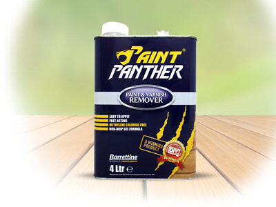 Barrettine Paint Panther Paint Varnish Remover Stripper 250Ml/500Ml/1L/2.5L/4L
