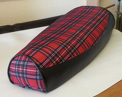 Vespa PX / LML Elasticated Seat Cover Tartan And Black