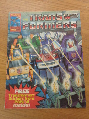 Transformers #53 22Nd March 1986 British Weekly Marvel Uk Comic*