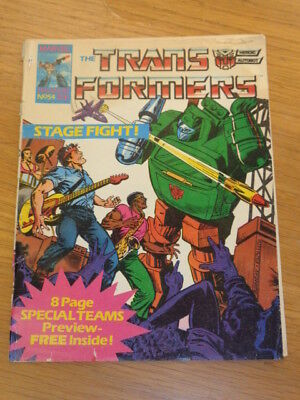 Transformers #54 29Th March 1986 British Weekly Marvel Uk Comic*