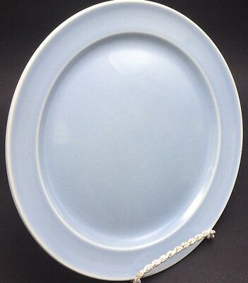 """Taylor Smith & Taylor Lu-Ray Pastels LUNCHEON PLATE Light Blue 9 1/4"""" USA"""