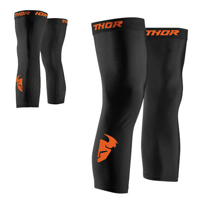 Thor Comp Sleeve Knie Socken Schwarz Orange Motocross Cross Offroad Enduro Quad