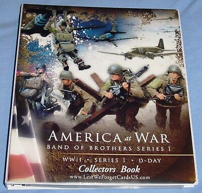 America at War - Real Band of Brothers Trading Cards - Mint Binder with Pages
