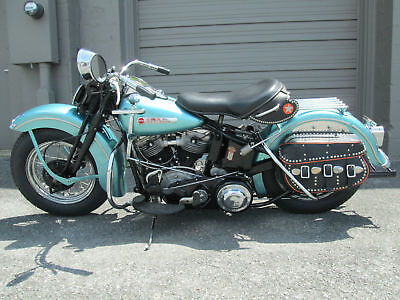 1948 Harley-Davidson FL Panhead Springer  1948 Harley Davidson FL Panhead Rare One Year Only Springer Restored Antique