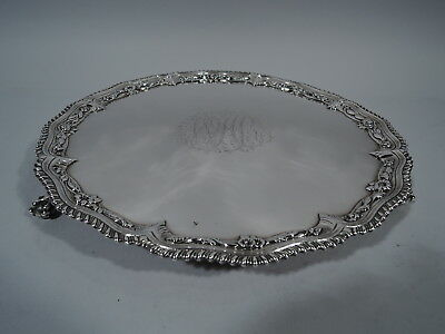 Georgian Salver - Antique Tray - English Sterling Silver - Robert Rew - 1766