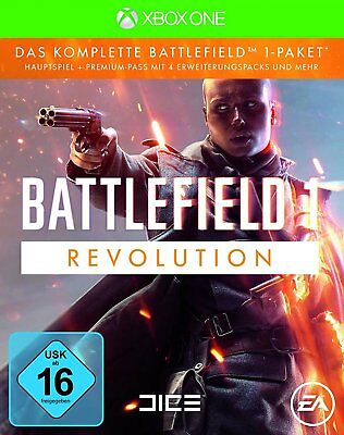 Xbox One Battlefield 1 Revolution Edition Hauptspiel + Premium Pass 4 Add On´s