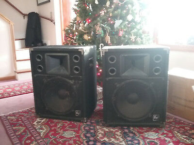 (Pair) Electro-Voice S-152 2-way Stage System 200 Watts